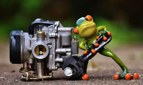 カエル、工具