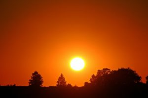 夕焼け、夕日