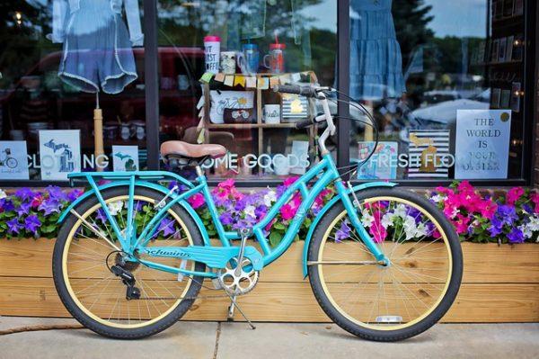 自転車、街