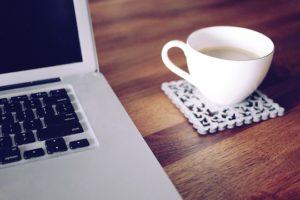 コーヒー、パソコン