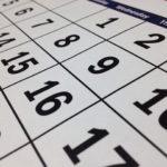 カレンダー、予定